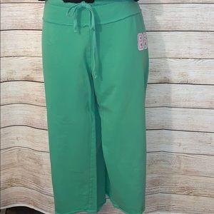 Pink Victoria's Secret crop sweatpants